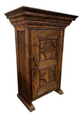 Antique Mexican or Spanish Carved Armoire Cabinet with Shelving