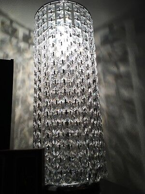 2 Stunning High End Crystal FOUNTAIN Chandelier Table TOP LAMPS,LIGHTING