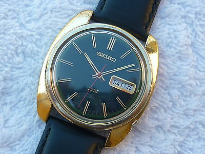 VINTAGE SEIKO DX AUTOMATIC double date 17 Jewels Steel Serviced 12/2015 watch
