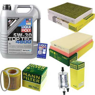 Packet Inspection 5 L Liqui Moly TOP TEC 4600 5W-30 + Man Filter Package 9878001