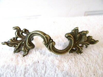 "4.75"" Brass Antique Hardware French Provincial Leaf Drawer Pull Knob Cabinet"