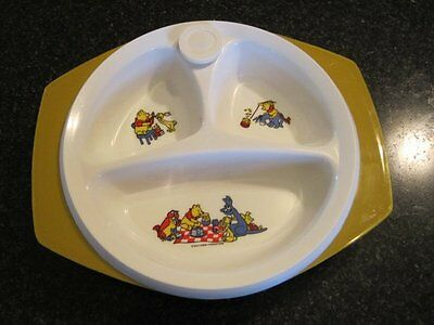 Vintage Winnie the Pooh suction baby plate hot divided