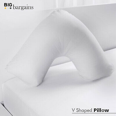 Goose Feather & Down V-Shaped Pregnancy Pillow Nursing Orthopedic Body Support