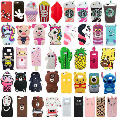 For Samsung S6 S7 Edge S8 S9 Plus Cute New Hot 3D Cartoon Soft Phone Case Cover