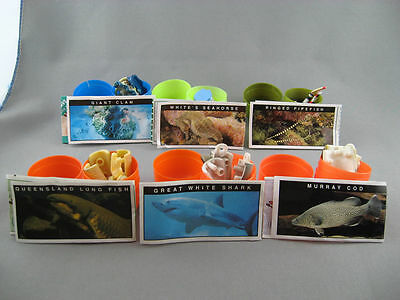 Yowie's 6 Asstd Sea Creatures Complete With Papers & Plastic Pod - #14