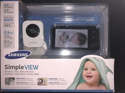 """Samsung SEW-3040W SimpleVIEW Baby Monitoring System IR NIght Vision Zoom 4.3"""""""