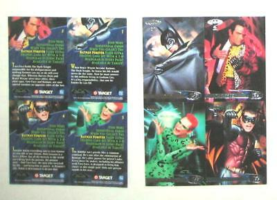 BATMAN FOREVER Fleer 1995 Set of 4 Comic Movie Collectible Trading Cards MINT