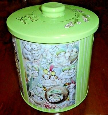 May Gibbs- Gumnut Babies collectable Mac's canister tin from 2014 ~  Near new!