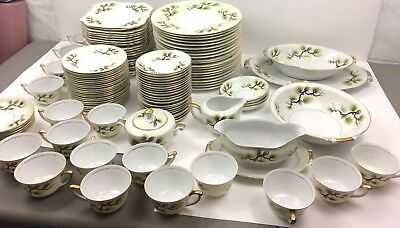 Antique Occupied Japan China Set Service NARUMI Shasta Pine 5012 Stock 1958 Mid