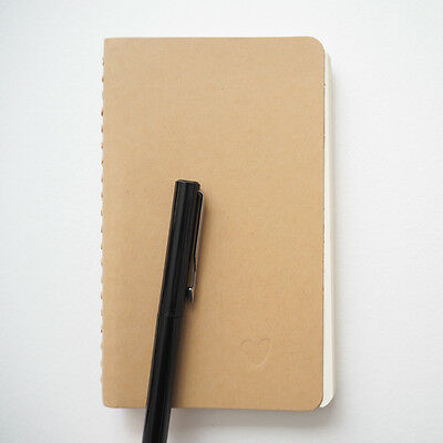 KRAFT NOTEBOOK Small Blank Spiral Journal Diary Memo Pocket Scrap Book - SECONDS
