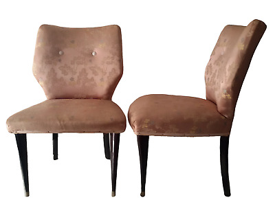 S T U N N I N G  Mid Century Modern Pair of Italian Cocktail Chairs