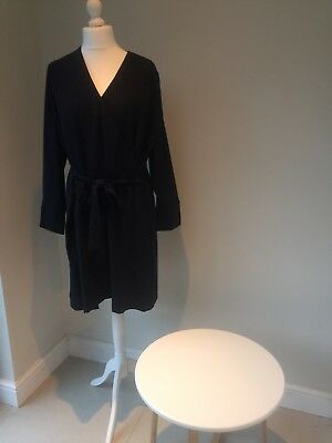 Brand New! Marks and Spencer Navy Shift Wrap Dress - Size 22