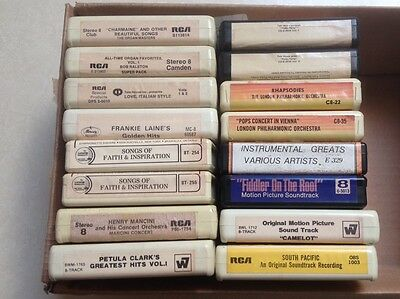 Lot of 16 Vintage 8 Track Tapes - PRICE REDUCED