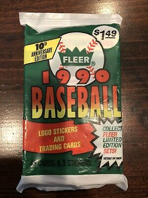 Ken Griffy Jr 1990 Unopened Baseball Card pack