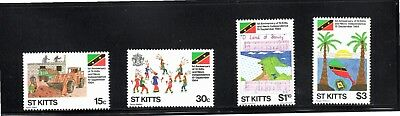 St Kitts 1984 First Anniversary of Independence SG 161/4 MUH