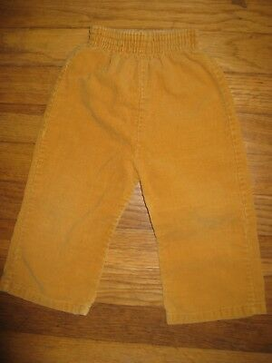 JcPenney Baby Boys Girls Sz 18 Months/2T Mustard Corduroy Vintage Pants 70/80's