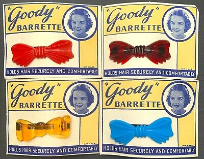 """Sweet Little 1950s """"Goody"""" BARRETTE Hair Clip - Choice of 4 Colours"""