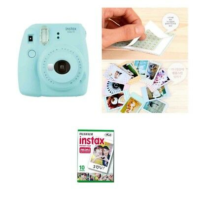 Fujifilm Instax Mini 9 Camera Ice Blue 1 Pack Fuji Film 10 Photo 8