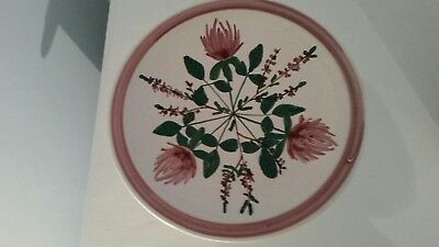 Iden Pottery Rye Hand Painted Plate Stamped JP 78