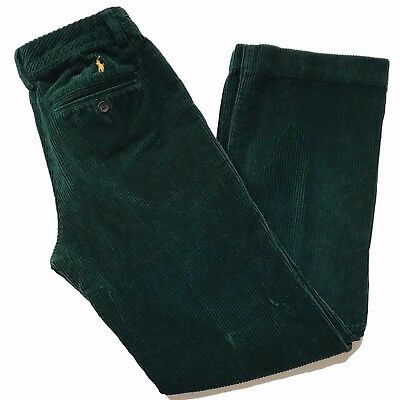 New Polo Ralph Lauren Corduroy Pants Size 14 Wide Wale Hunter Green Boys