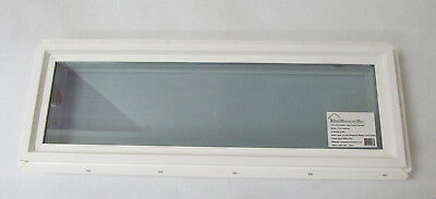 Transom Window 10 X 36 Double Pane Low E Tempered Glass Pvc Frame