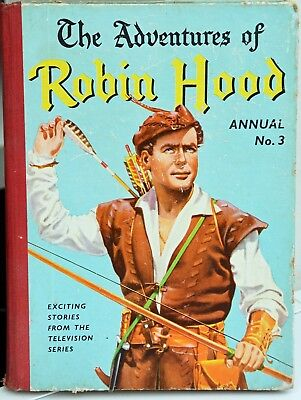 Vintage The Adventures of Robin Hood Annual No.3 - 1958