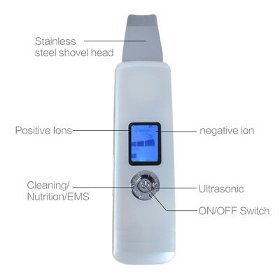 Mini Portable Rechargeable Ultrasonic Facial Skin Scrubber Vibration Cleansing
