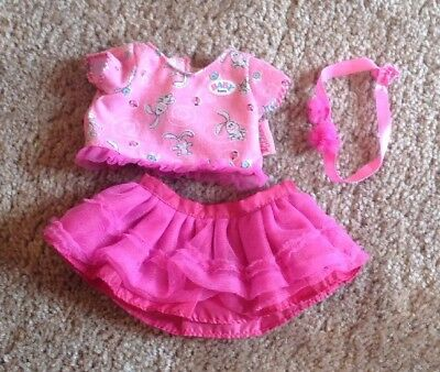 Zapf Creation Baby Born Dance With Me 3 Pc Replacment Clothes Top Tutu Headband