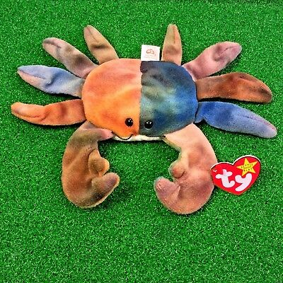 016531a2b9c RARE Claude The Crab 1996 Retired Ty Beanie Baby PE Version MWMT - Free  Shipping