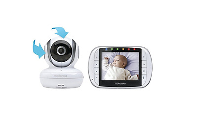 Motorola MBP36S Remote Wireless Video Baby Monitor- Baby Monitor