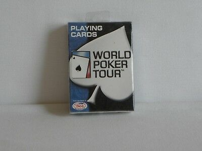 Sealed Deck Of World Poker Tour WPT blue seal Bee blue playing cards NEW
