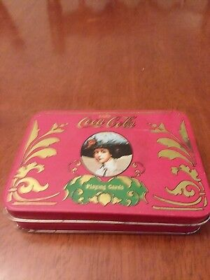 Vintage Coca Cola Playing Cards In Tin~1 Full Deck