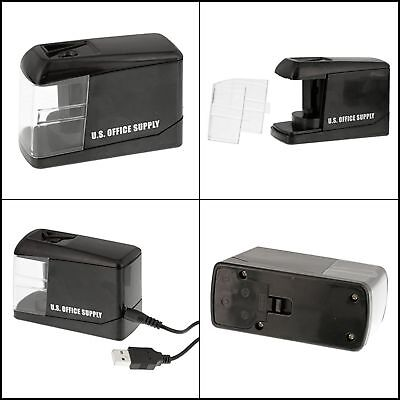 Electric Pencil Sharpener Automatic Battery or Usb Plug Operated Standard Size