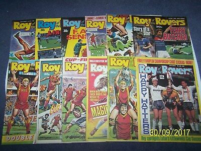 12 Roy of the Rovers Comics 2, 9, 16, 23, 30/4, 7, 14, 21, 28/5, 4, 11, 18/6/88