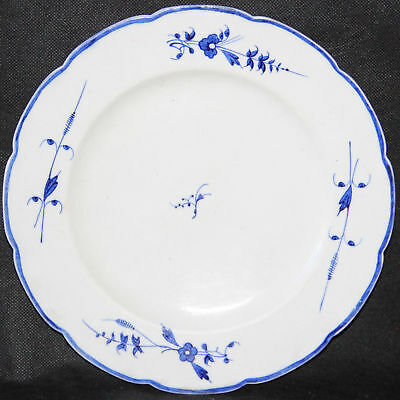 Superb 18th century caughley porcelain plate - antique english blue & white (B)