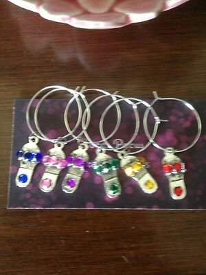 Shoes, Slippers, Tibetan Silver Wine glass charms