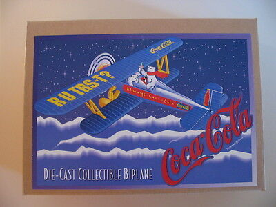 ERTL Coca-Cola Die Cast Collectible Limited Edition Biplane Bank-NIB