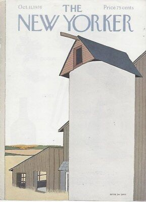 The New Yorker magazine ~ COVER ONLY ~ Gretchen Dow Simpson ~October 11 1976
