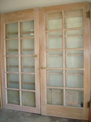 PreHung French Doors 10 Panel Glass Double Pane Includes Hardware Walnut 2 Piece