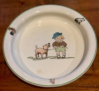 """Vintage Children's Feeding Plate, """"Campbell's Soup Kid..."""" Circa 1920's"""