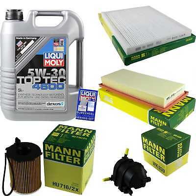 Packet Inspection 5 L Liqui Moly TOP TEC 4600 5W-30 + Man Filter Package 9877736