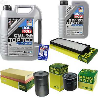 Packet Inspection 6 L Liqui Moly TOP TEC 4600 5W-30 + Man Filter Package 9819882