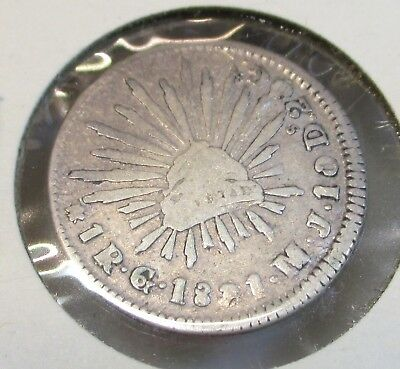 1831 Mexico Silver 1 Real MJ