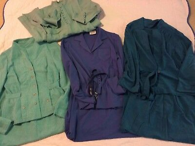 Vintage Women's 3 SKIRT SUITS & 1 DRESS - Sizes XS/S - Leslie Fay & Handmade