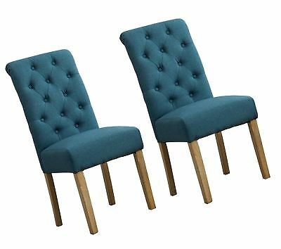 Roundhill Furniture Habit Solid Wood Tufted Parsons Dining Chair Set Of 2