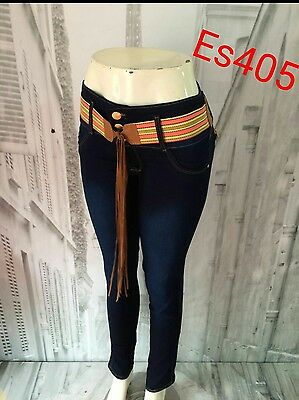JEANS COLOMBIANOS ES405 , Authentic Colombian Push Up Jeans, Jean Levanta Cola