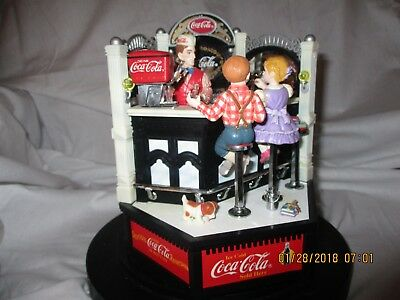 "Coca Cola ""Together"" Enesco Action Musical Soda Shop"