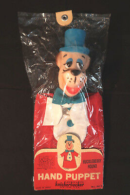 1963 Huckelberry Hound Hanna Barbera Knickerbocker Toy Puppet In Orig.package