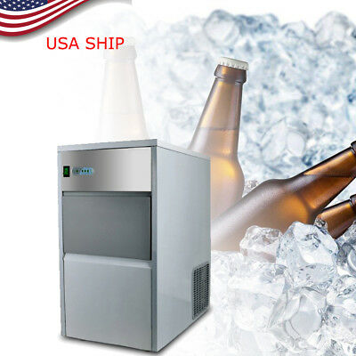 Built-In Countertop Stainless Steel Cube Bullet Ice Maker Machine 55LB/DAY 110V