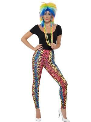 NEW Neon Leopard Print Leggings Back to the 80's & 90's